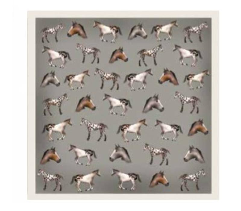 Seidenschal Antilope, Horses
