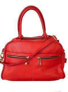 Flavio Dolce Leather bag, Red, Flavio Dolce