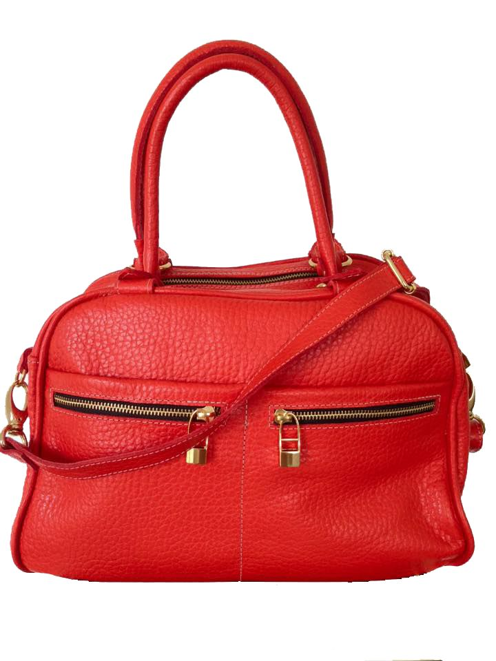 Flavio Dolce Leather bag, Red, Flavio Dolce