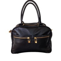 Leather bag, Black, Flavio Dolce