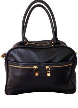 Flavio Dolce Leather bag, Black, Flavio Dolce
