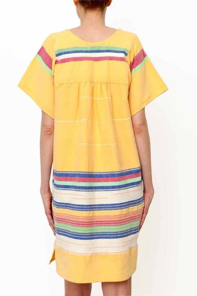 Santa Lupita Dress Cambaya, yellow, Mexico