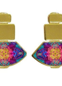 Flor Amazona Earrings Taganga Night, Flor Amazona