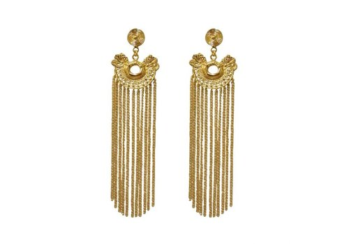 Flor Amazona Earrings Dos serpientes rain