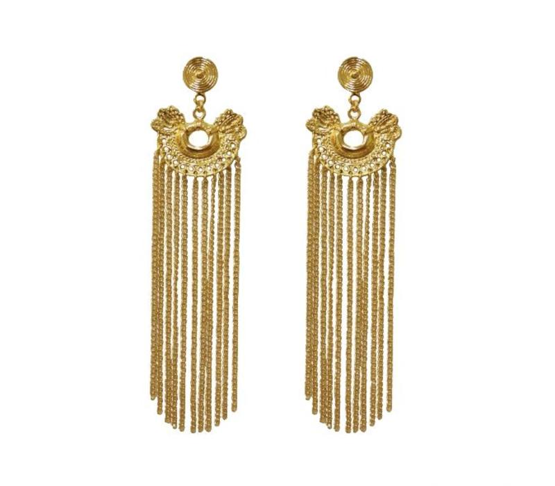 Earrings Dos serpientes rain