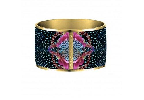 Flor Amazona Armband Flor Amazona, Atlantic Manta, vergoldet 24 Kt