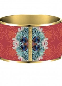 Flor Amazona Enamel Bangle Flor Amazona, Pacific paradox, gold leaf 24kt