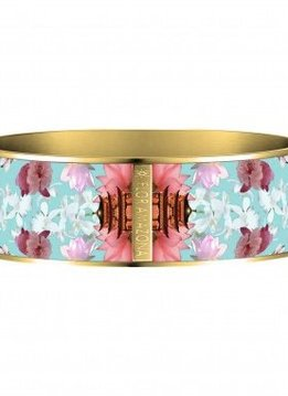 Flor Amazona Enamel Bangle Flor Amazona, Samurai Dream, gold plated 24kt