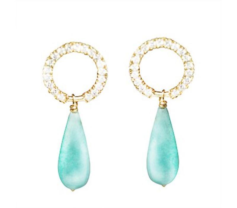 Haya Jewellery, Ohrringe, Diamanten 0,2ct und Amazonit