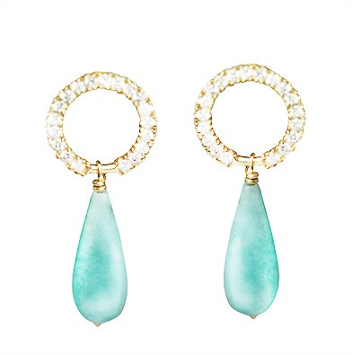 Haya Jewellery Haya Jewellery, Ohrringe, Diamanten 0,2ct und Amazonit
