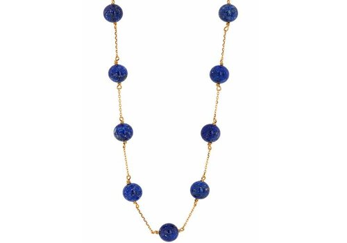 Haya Jewellery Necklace, Lapislazuli Pearls, Gold 750