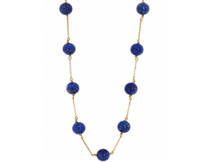 Haya Jewellery Collier, Lapislazuli Perlen, Gold 750