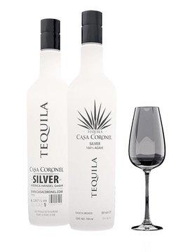 """Casa Coronel Tequila """"Silver"""" 100% Agave, Mexico"""