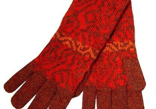 Apu Kuntur Handschuhe Chimu Alpaka Wolle