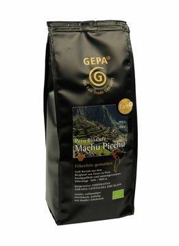 Gepa Bio Kaffee Machu Picchu, gemahlen