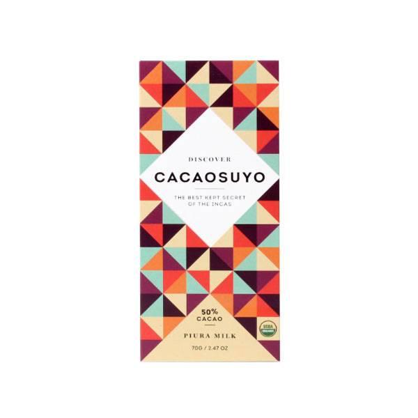 """Cacaosuyo Cacaosuyo Premium chocolate """"Piura MILK"""" 50%"""