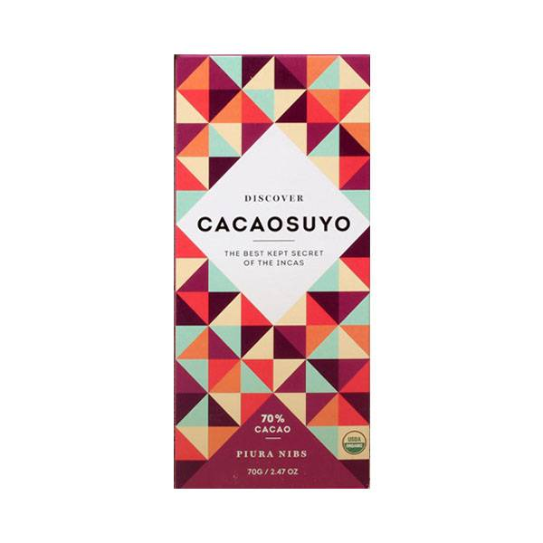 """Cacaosuyo Cacaosuyo Premiumschokolade """"Piura Nibs"""" 70%"""