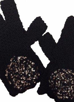 Kanthaka Gloves 100% Alpaca Wool Superfine & Pailletten