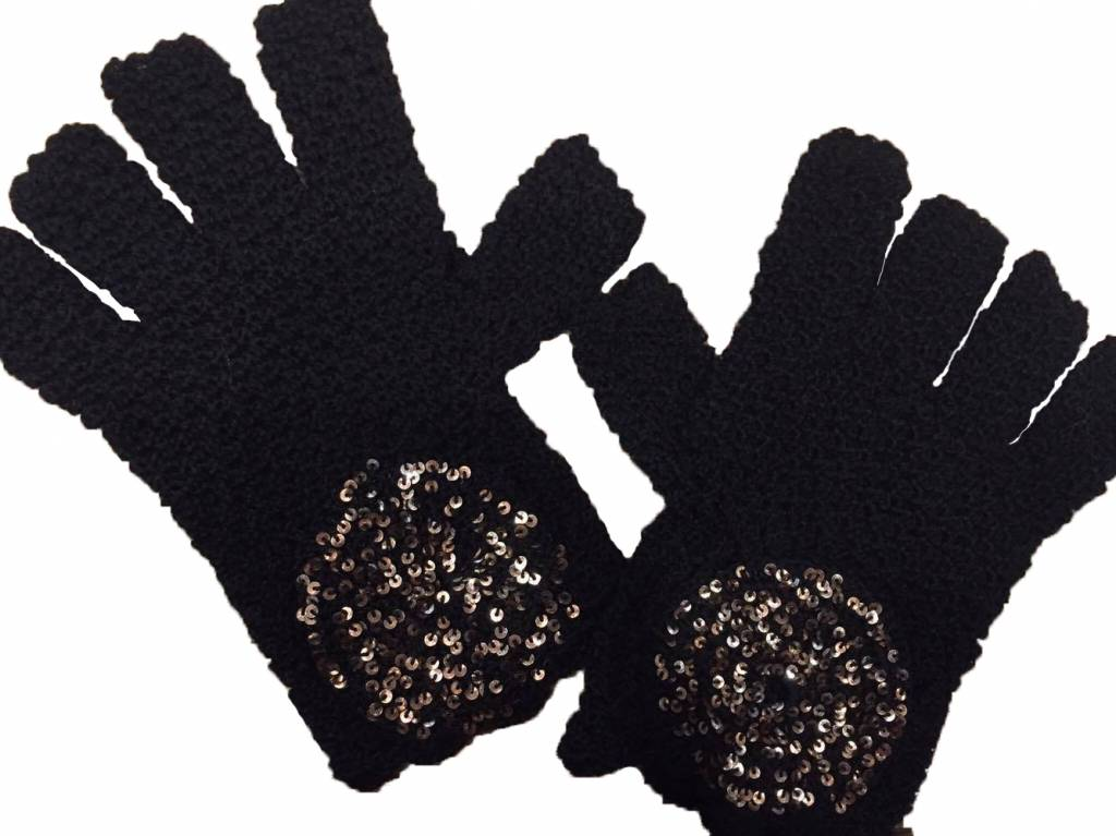 Kanthaka Gloves 100% Alpaca Wool Superfine & Pailletten