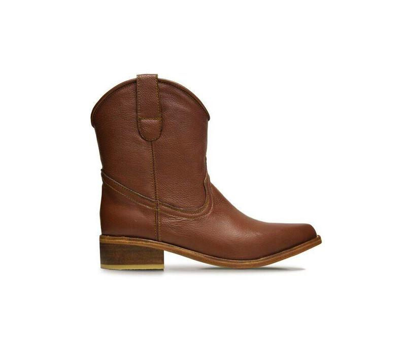 Ankle boots Basto, Whisky, 100% Leather - Copy