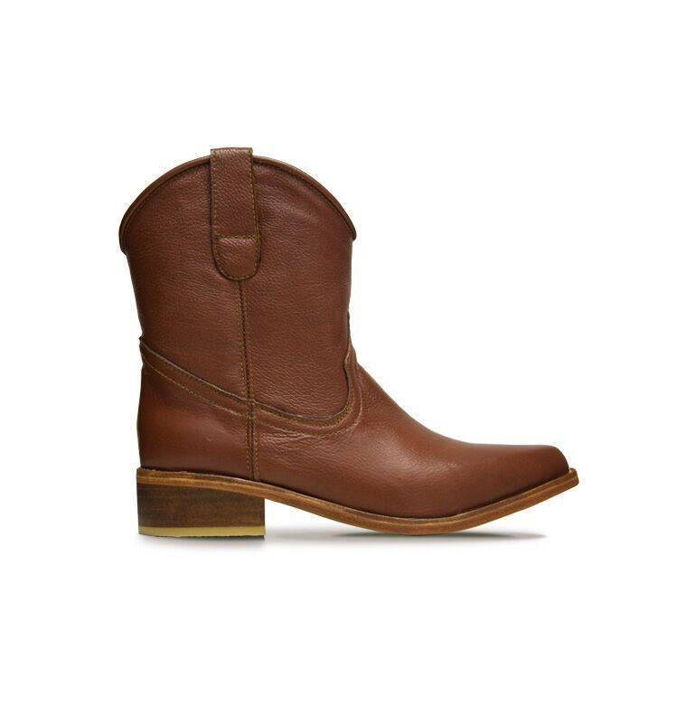 Basto Ankle boots Basto, Whisky, 100% Leather - Copy