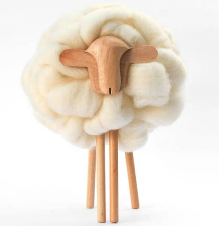 Taller Clavelli Skulptur Schaf, 100% Correidale Wolle, Uruguay