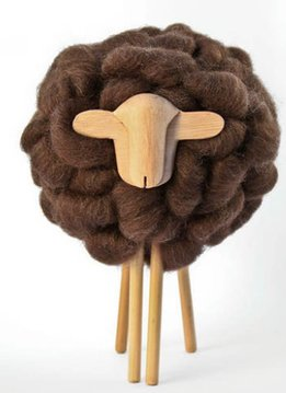 Taller Clavelli Skulptur Schaf, 100% Corriedale Wolle, Uruguay