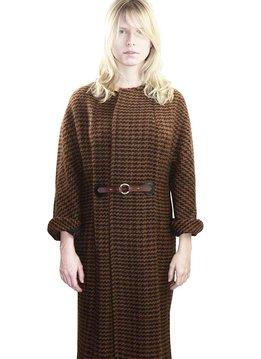 Kanthaka Coat, pied de poule, 100% Alpaca Wool Superfine