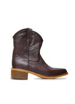 Basto Ankle boots Basto, Chocolate, 100% Leather