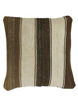 Huitru Pillow brown, 100% Alpaca wool, 40x40cm