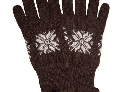 Apu Kuntur Handschuhe Braun, 100% Alpaka Wolle Superfine