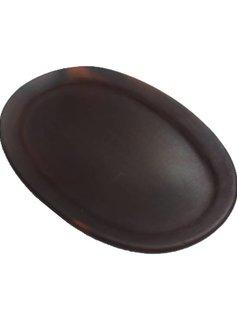 Teller, Keramik Pomaire Braun, 32x21cm