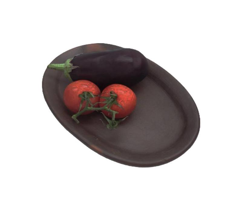 Plate, Ceramic Pomaire Brown, 32x21cm
