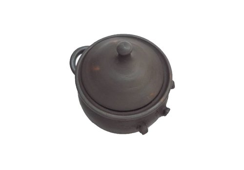 Olla de cerámica Pomaire café