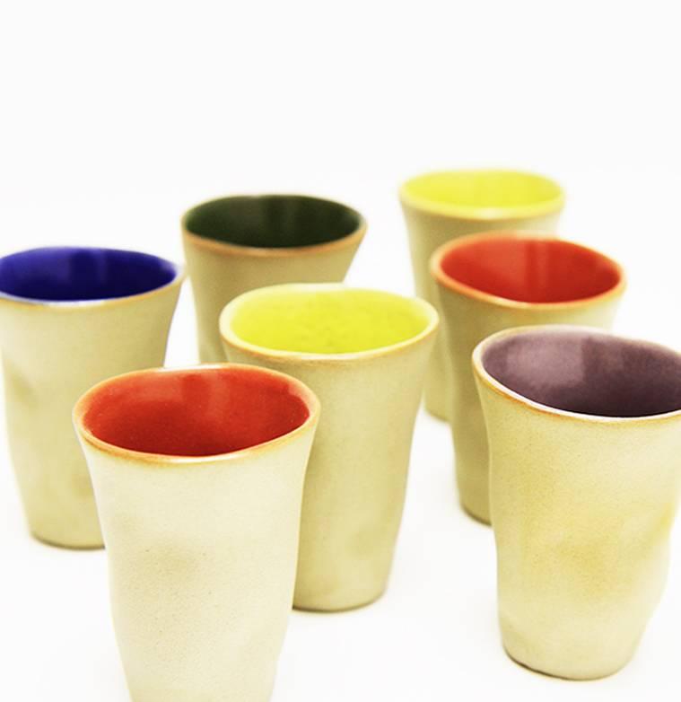"Mario Brandao Keramik Becher ""Favella Collection"""