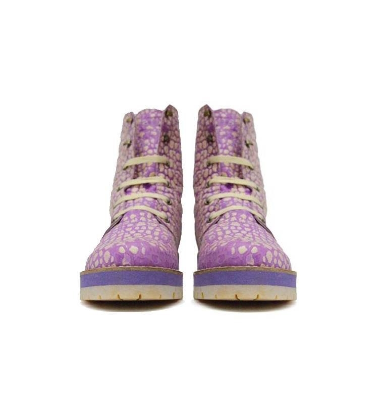 "Matices Ankle Boots ""Purple moon"" 100% Leather"