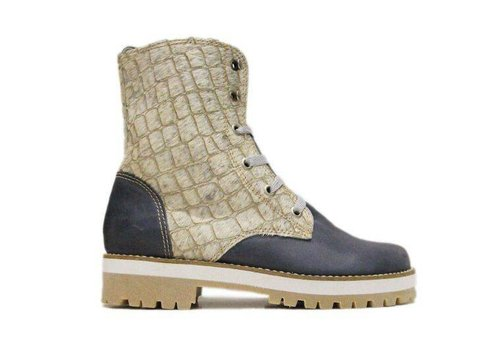 "Matices Ankle Boots ""Cream Bluegator"" 100% Leather"