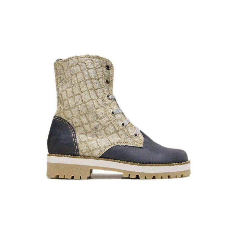 """Matices Ankle Boots """"Cream Bluegator"""" 100% Leather"""