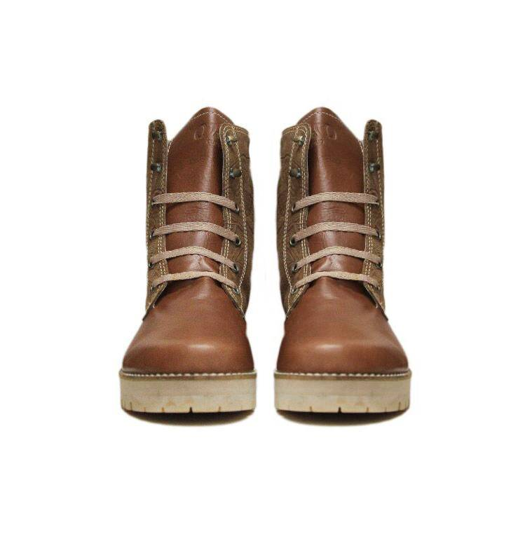 """Matices Ankle Boots """"Caramel"""" 100% Leather"""