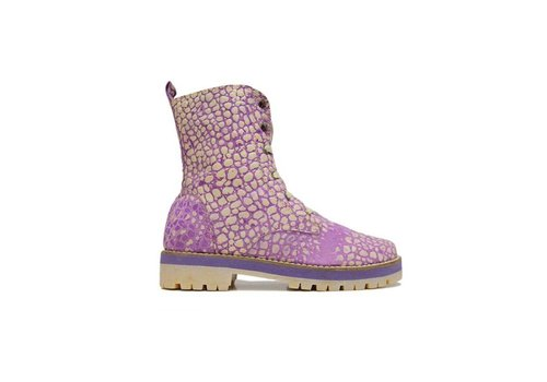 Matices ANKLE BOOTS 100% LEDER AUS URUGUAY - PURPLE MOON