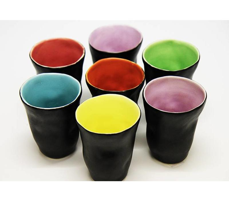"Ceramic cup black ""Favella Collection"""