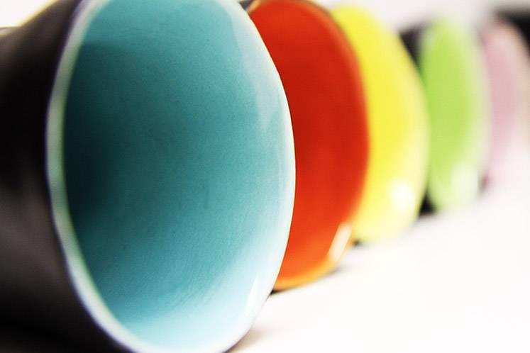 "Mario Brandao Ceramic cup black ""Favella Collection"""