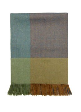 Mora SIlva Scarf Pashmina 100% Baby Alpaca Wool, checkered green