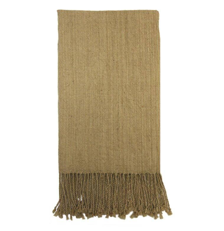 Schal Beige 100% Alpaka Wolle