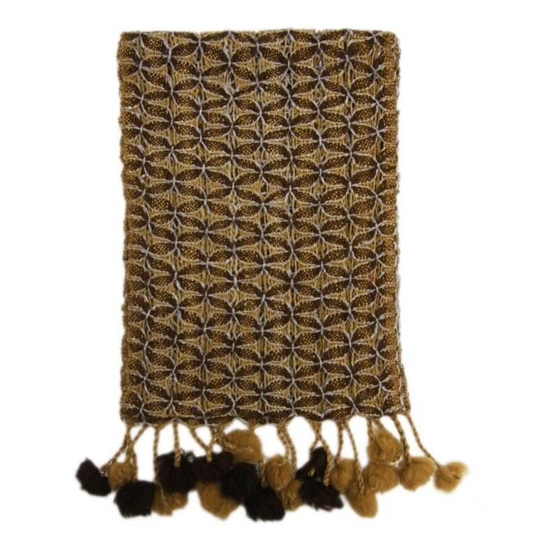 Scarf Beige-Braun, 100% Alpaca Wool
