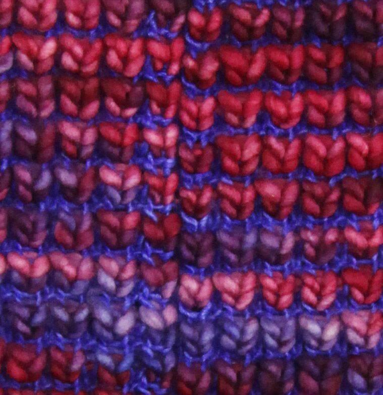 Moncloa Loopschal Burbuja Blau-Lila, 100% Merino Wolle