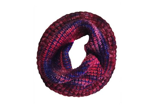 Moncloa Loop scarf Burbuja Blue-Lila, 100% Merino Wool