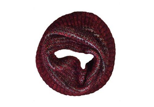 Moncloa Bufanda loop Burbuja rojo, 100% lana Merino