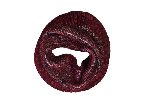 Moncloa Loop scarf Burbuja red, 100% Merino Wool