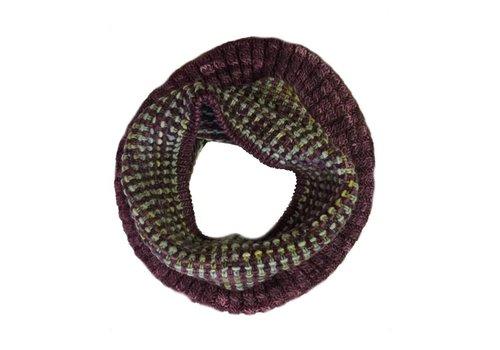Moncloa Loop scarf Coral, 100% Merino Wool